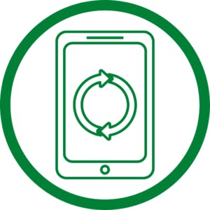 green phone in circle icon