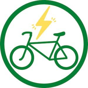 green electric bike icon