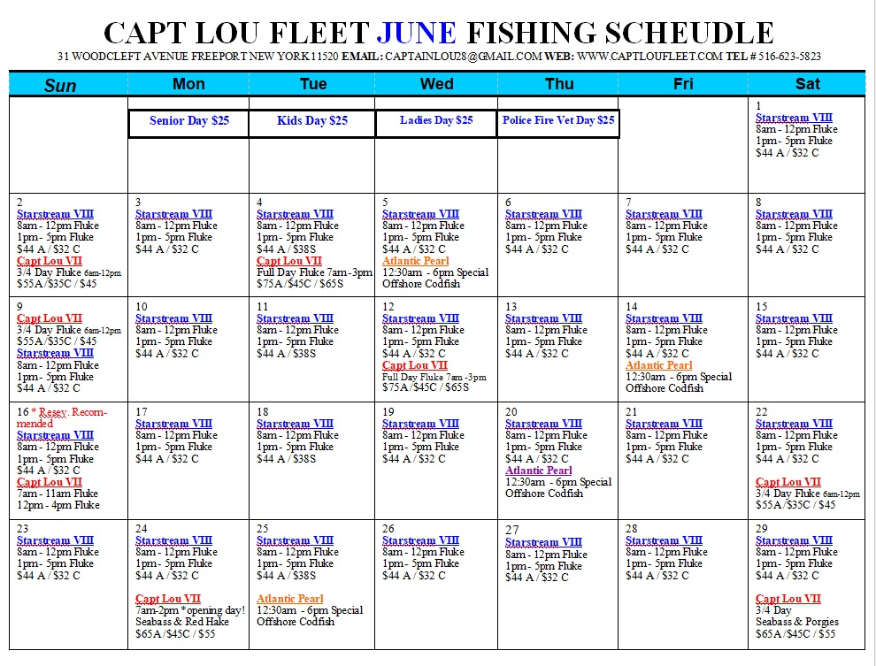 Click here to June Schedule