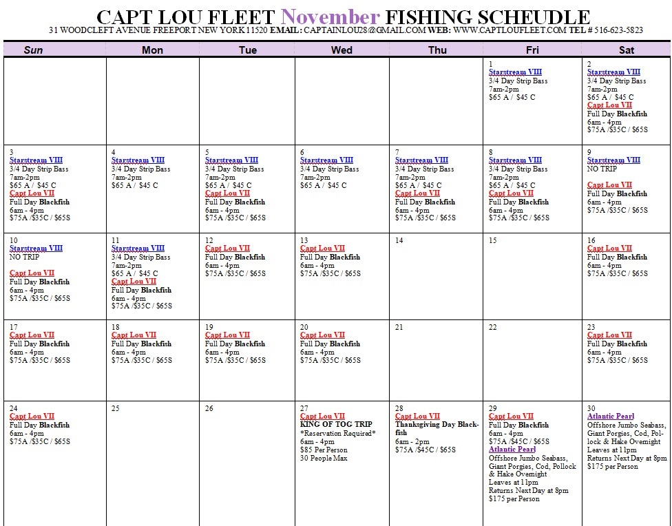 Click here to November Schedule