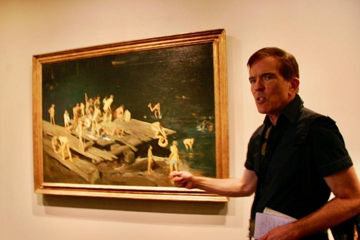Stephen Mead leading modern art tour at the National Gallery of Art in Washington DC