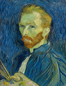 Self Portrait Vincent van Gogh 1888 from the National Gallery of Art, Washington, DC Collection