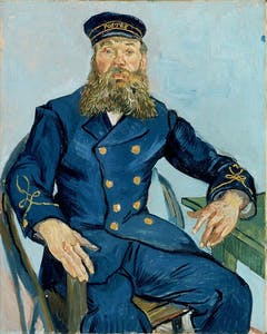 Portrait of the Postman Joseph Roulin by Vincent van Gogh 1888