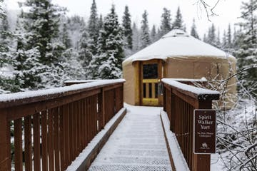 Spirit Walker Yurt in the snow