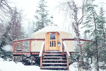 Toba's Yurt in the Snow