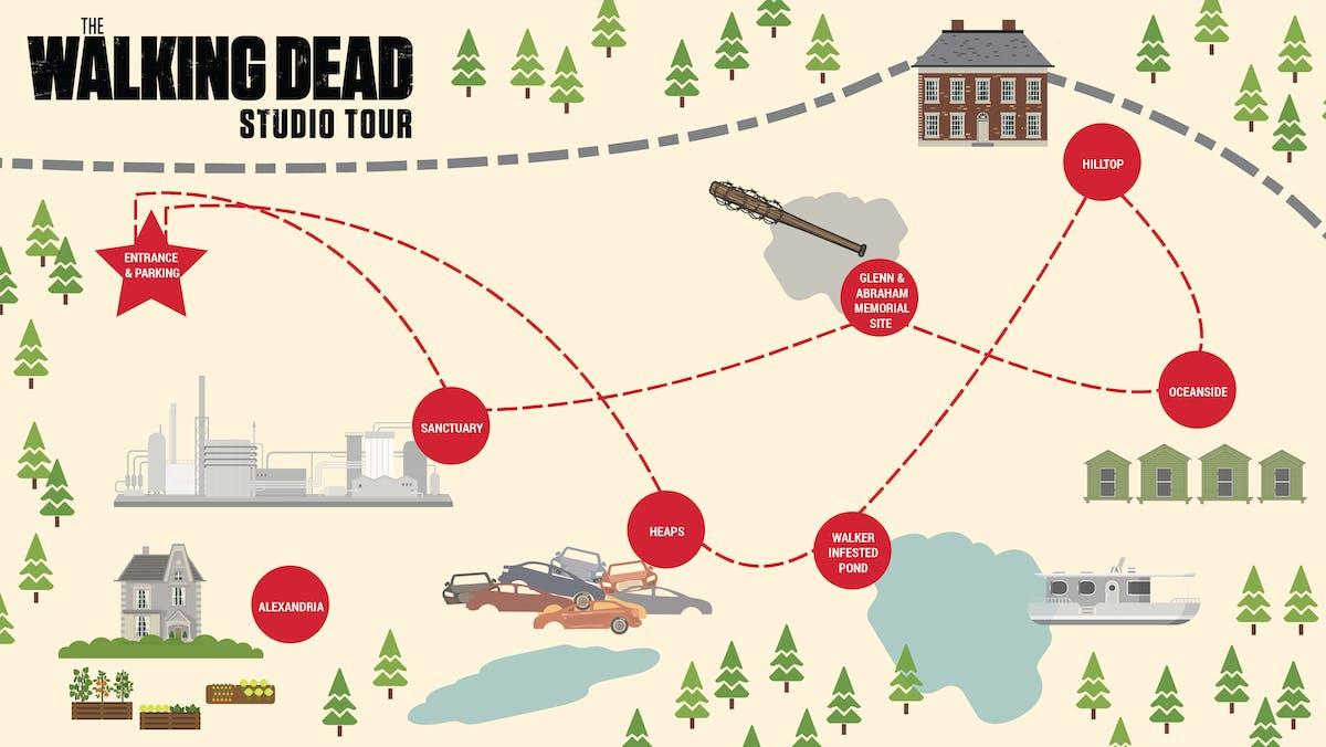 Mapa The Walking Dead.Walking Dead Georgia Map