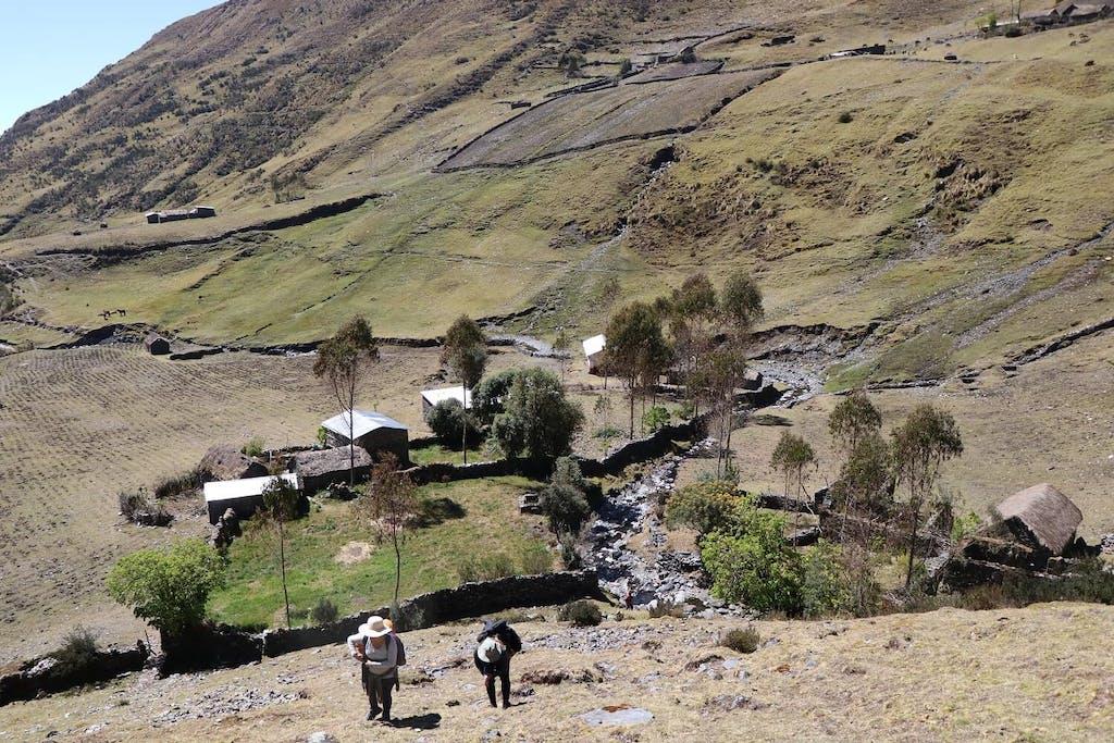 hillside in Pitukiska, Peru