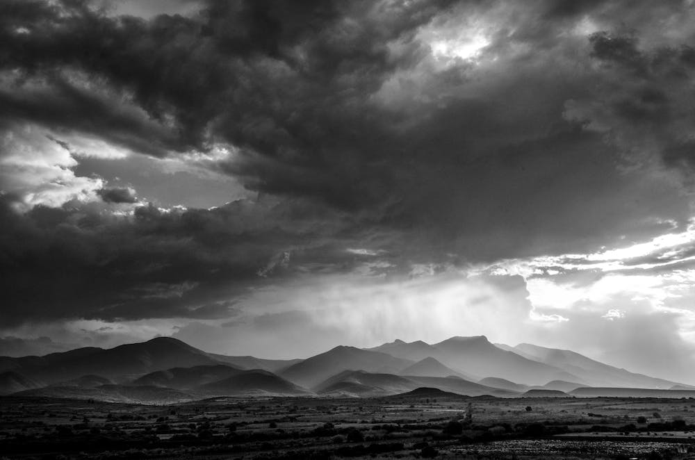 rain over the Oaxaca valley and mountains