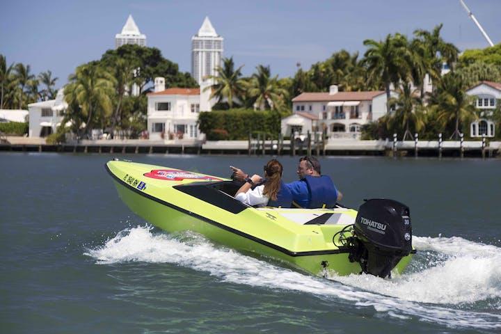 Miami coastline boat tour