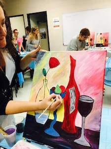Some fun date ideas in San Diego include painting while drinking wine