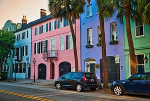 Visit Rainbow Row for your next Charleston SC weekend Getaway