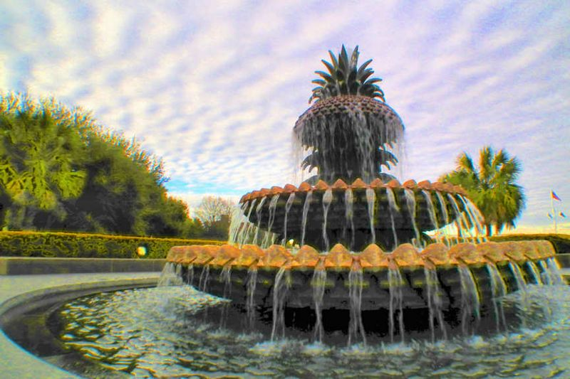 The Pineapple Fountain in Charleston