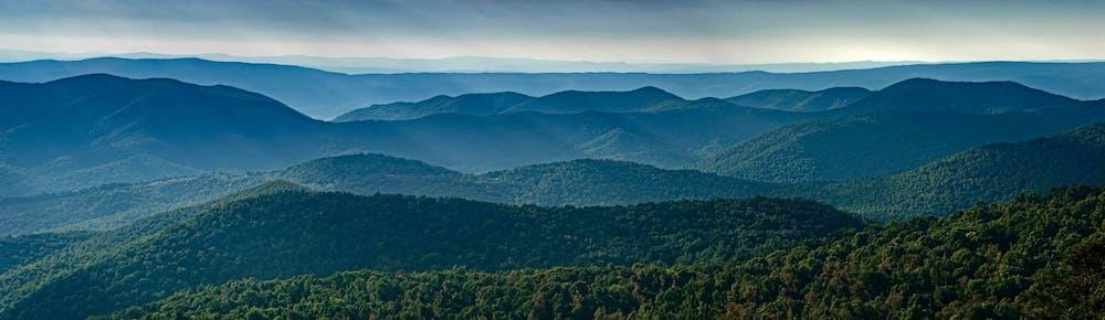 Blue Ridge and Southern Appalachian Mountains View