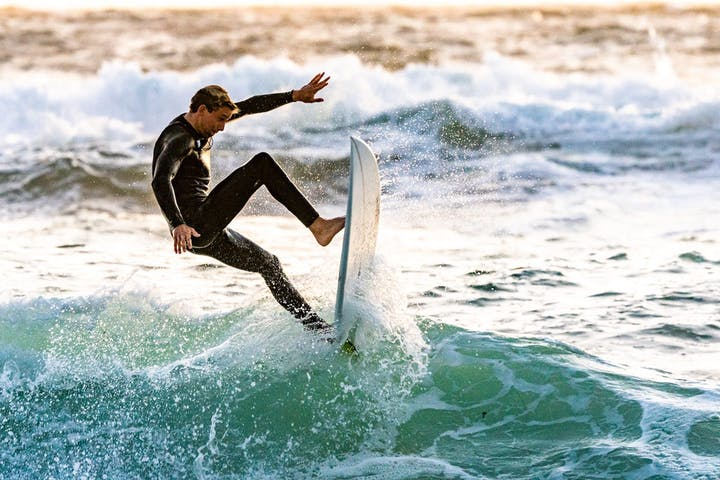 Surfer with wetsuit