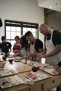 Cooking class in LA for team building activity