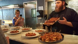 food tour of Chicago at the Chop Shop food tasting
