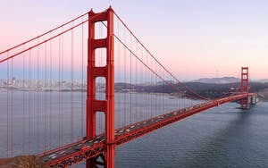 The famous Golden Gate Bridge