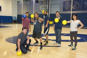Dodgeball makes for a fun team builder