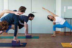 A yoga class with your co-workers