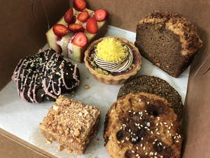 A variety of delicious pastries, tarts, and desserts in SF