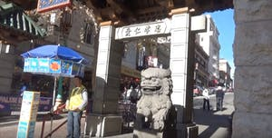 Dragon's gate in Chinatown SF