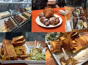 A medley of food tastings for Sidewalk Food Tours