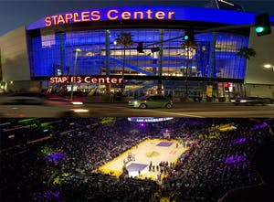 The Staples Center Arena where fans can enjoy a game