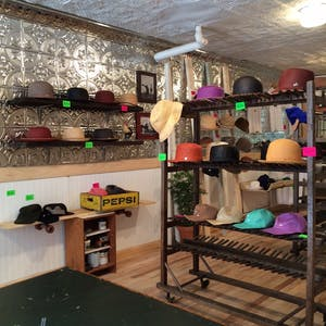 inside a hat shop
