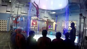 an indoor skydiving tunnel