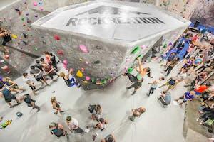 Indoor rock climbing gym in LA