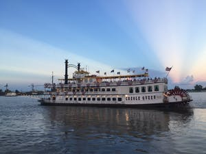 a steamboat meant for sightseeing around New Orleans
