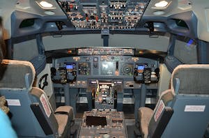 inside the cockpit of a plane