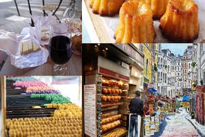 4 different pictures of delicious food from Paris