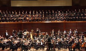 a two story orchestra