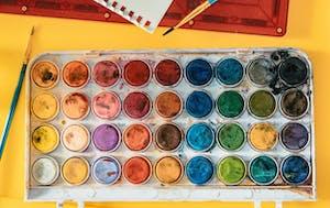 water color paint palette