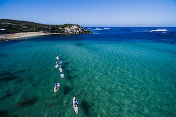 sup group on the water in margaret river