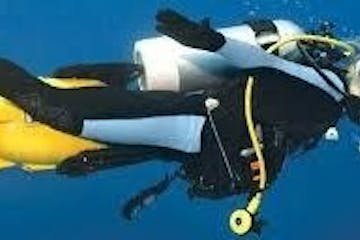 Diver using a Propulsion Vehicle underwater