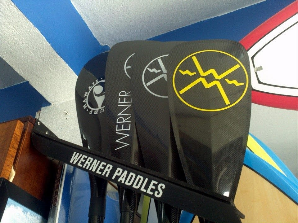 Paddleboard paddles close up picture