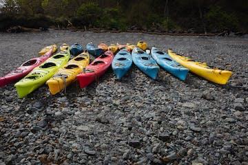a raft on the beach