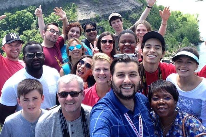 Group of tourists at Niagara Falls