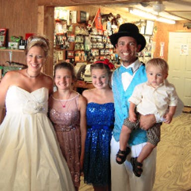Bass Fisherman Mike Iaconelli and his wife, Becky, renew their wedding vows