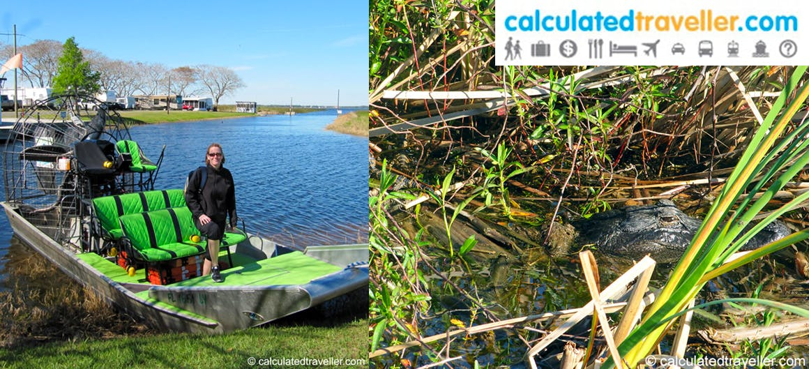 Calculated Traveller on an airboat tour with Wild Willy's