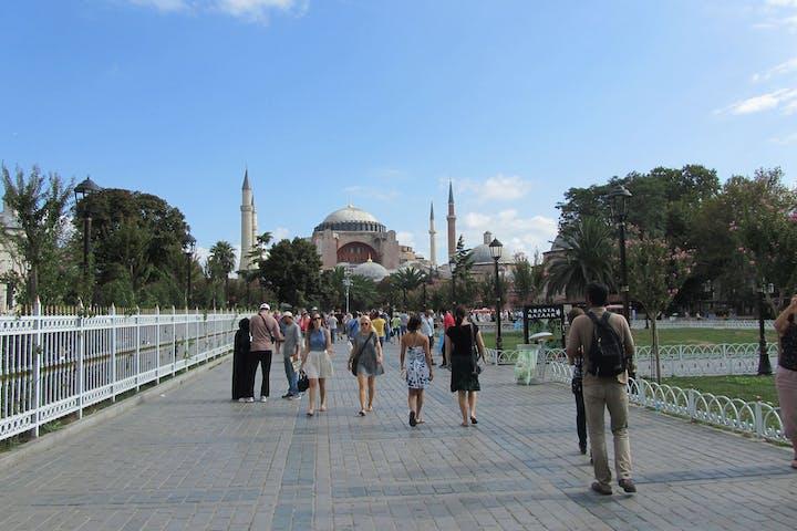 Pedestrians-Near-Hagia-Sofia-Istanbul