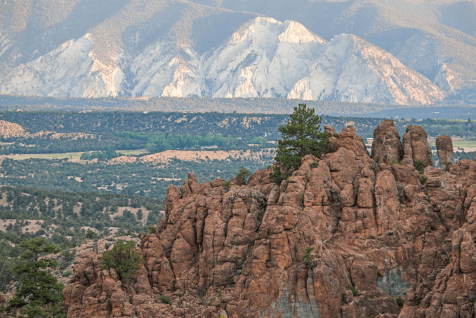 Browns Canyon National Monument with Mt. Princeton in the Background