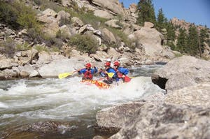 browns canyon white water rafting colorado