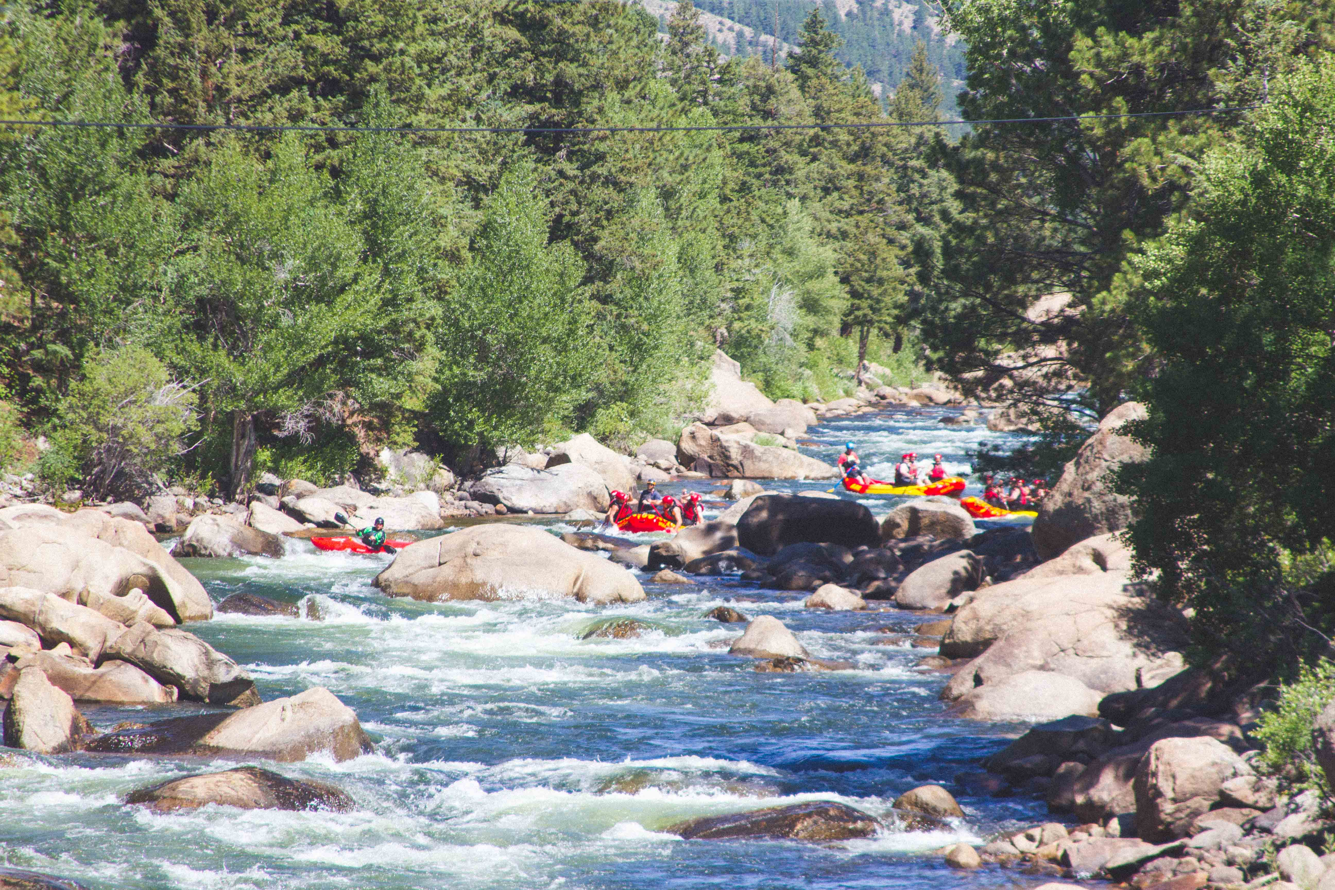sunny white water rafting season