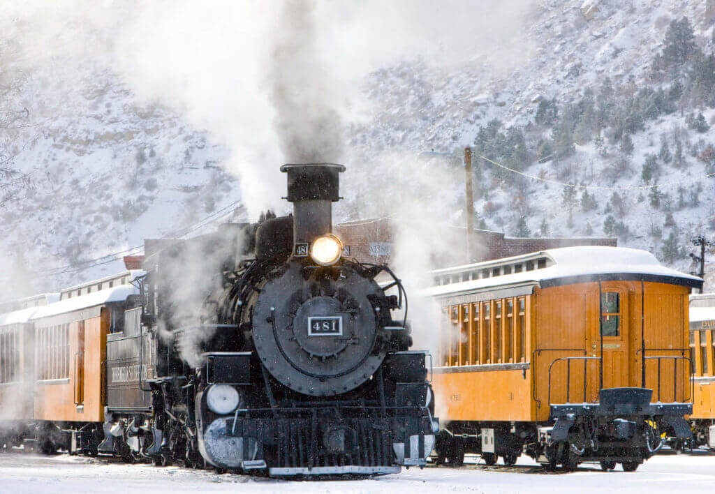 winter train rides colorado