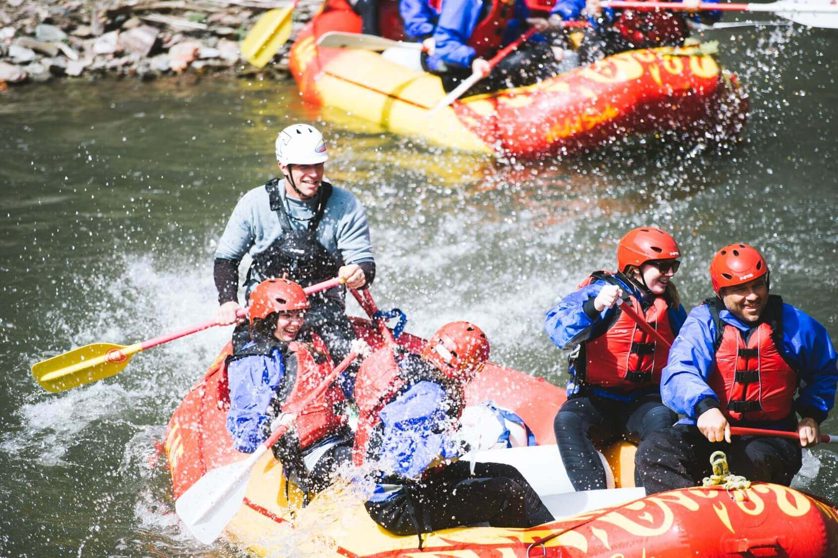 family adventure vacations white water rafting
