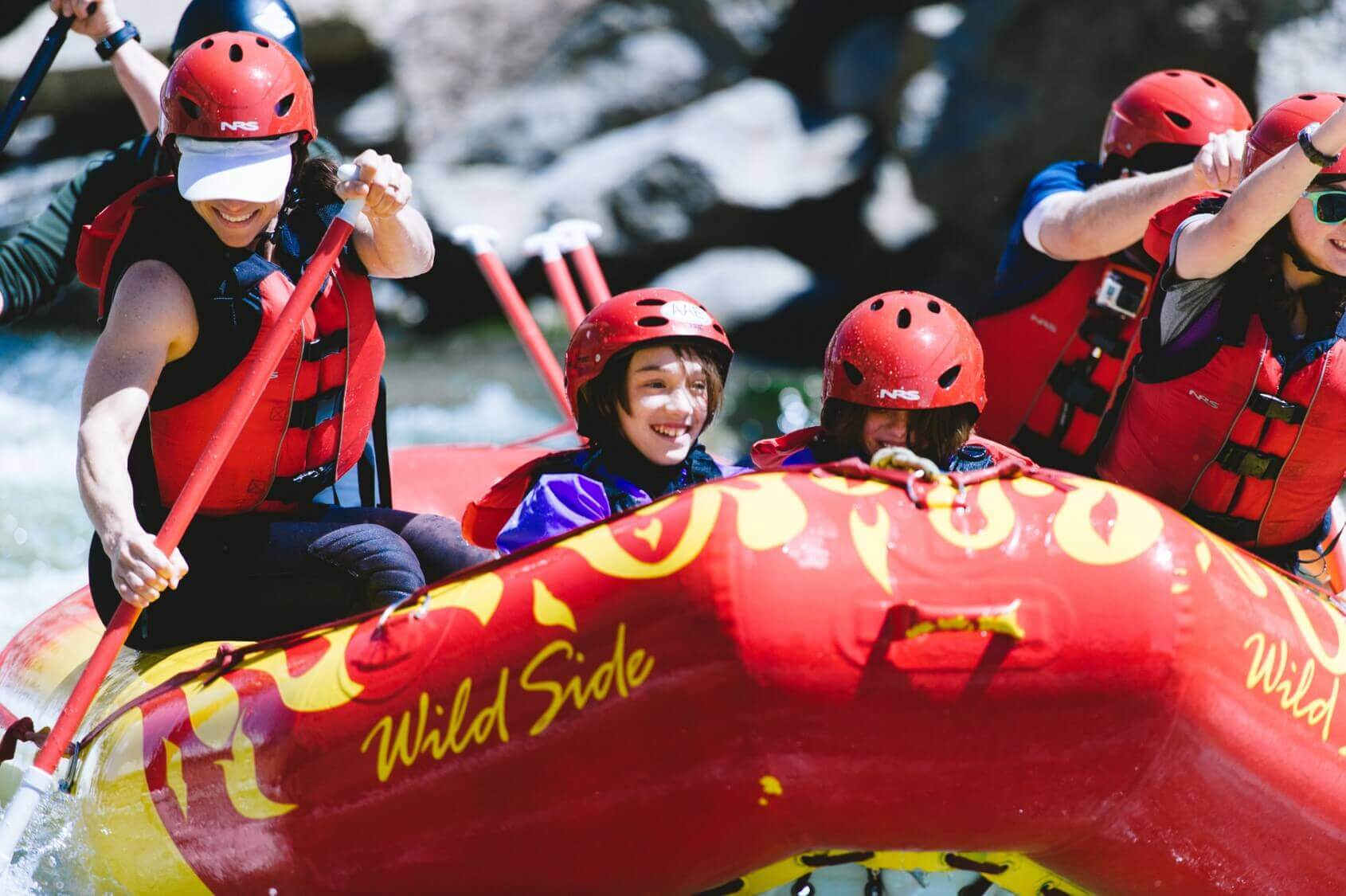 outdoor activities with kids white water rafting
