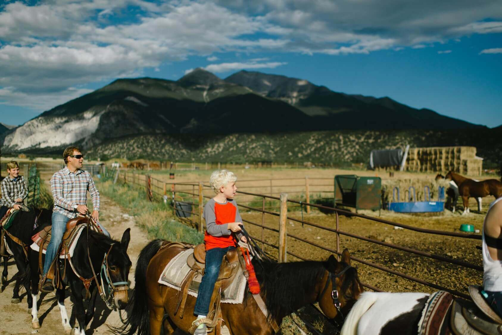outdoor activities with kids horseback riding